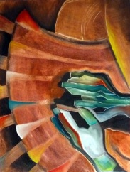THE RHYTHMIC EARTH / Oil and brickdust on canvas / 60x80cm / $600